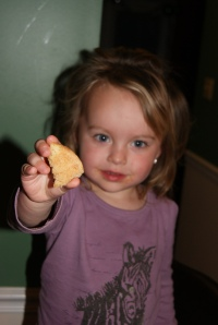 She likes the Snickerdoodles, just like her Daddy.
