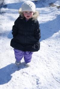 My little snow angel.