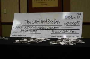 $4500 for The One Fund!