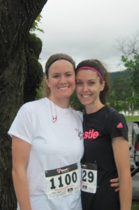 Two southern friends reunited in their home town at a 5K.