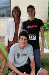 First time running a 5K with my brother, AND first time my mom has watched me run a race.  What a treat!
