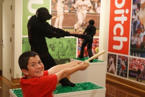 Perfect for Rydan - there was a baseball lego exhibit!