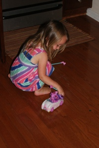 "She even got a remote control pony car from ""Papoose"" (aka Pap Wiest)."