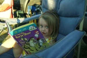 Lily chose to read a book.