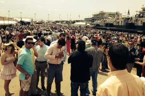 This was the sight after entering through the gate.  Welcome to the infield.