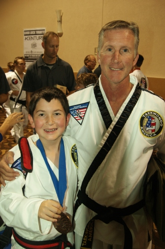 Rydan and his Taekwondo Instructor, Mr. Nelson.