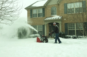 We were thankful that we  never got rid of our snowblower. Not too people have these in Kentucky.