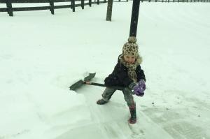 We shoveled.