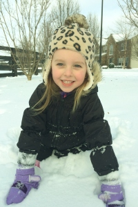 My little snow bunny.