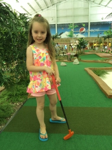 First time miniature golfing.