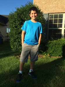 Rydan's first day of middle school. He said